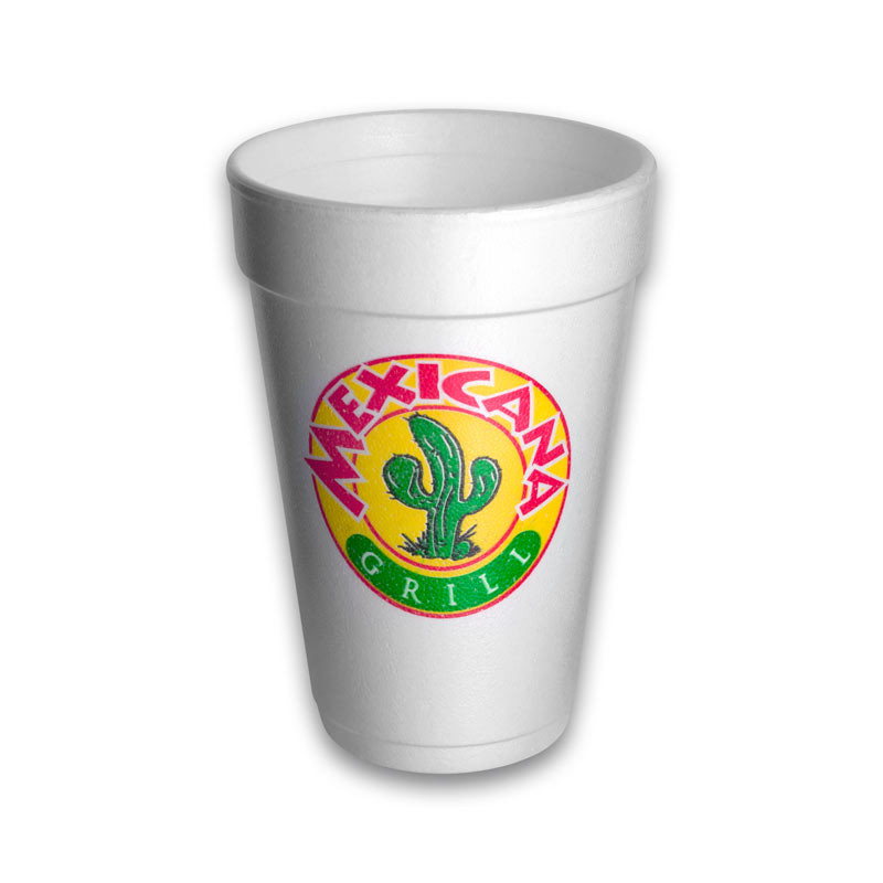 16 oz Custom Printed Styrofoam Cups