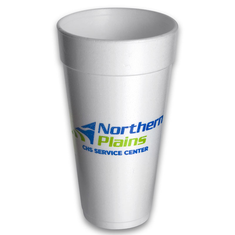 24 oz Custom Printed Styrofoam Cups