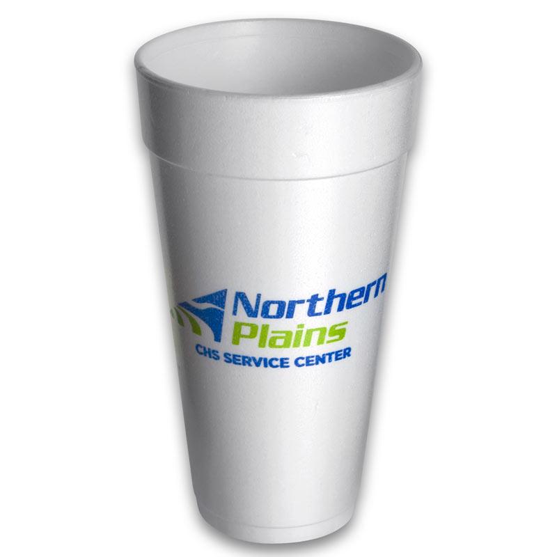 24 oz Custom Printed Styrofoam Cups