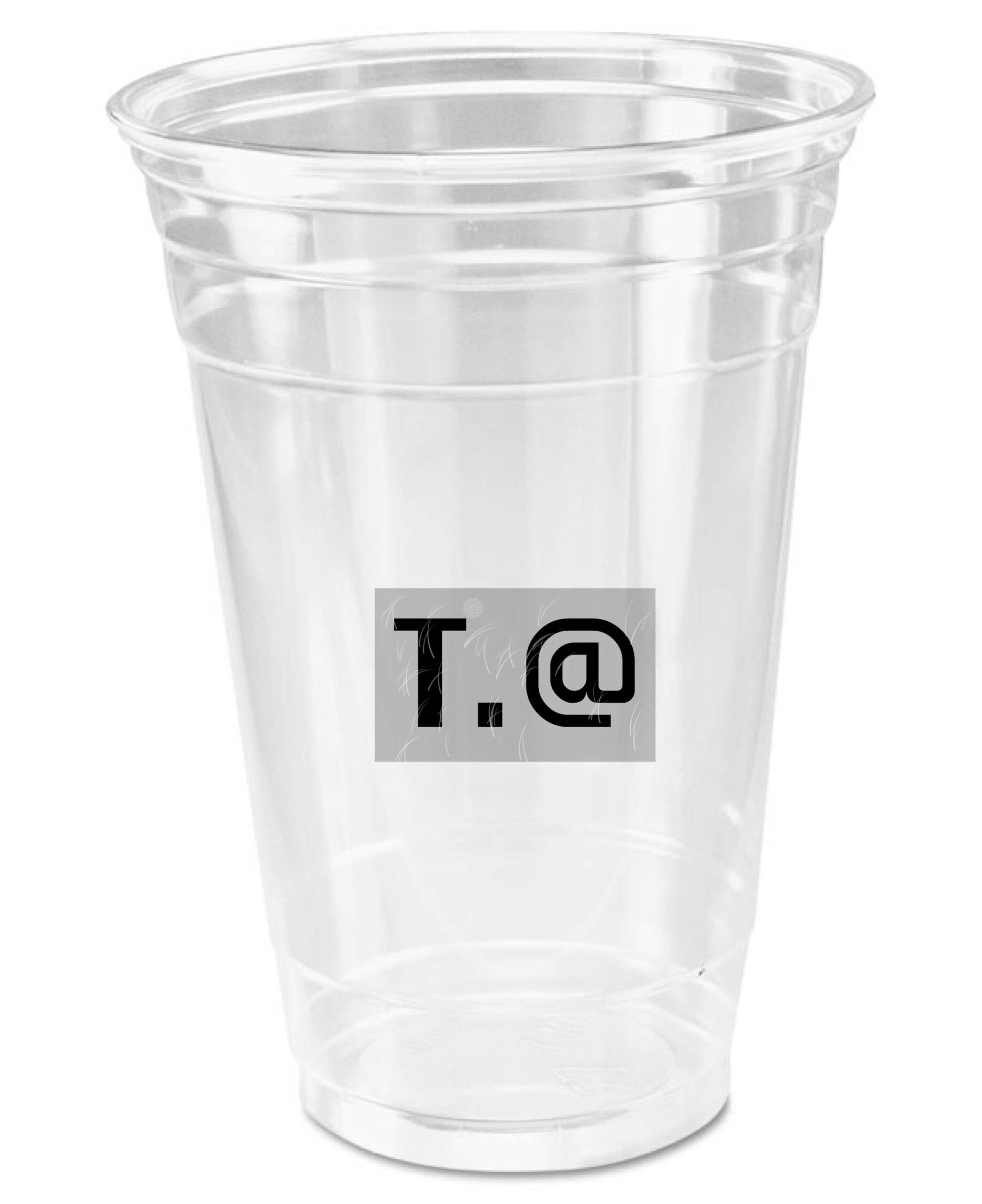 20 oz plastic PET cups