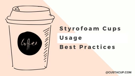 Monogrammed Styrofoam cups