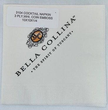 3 ply cocktail napkin